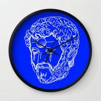 greek Wall Clocks featuring Greek Cry by Bombarda