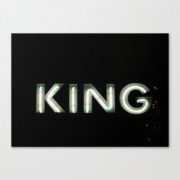 King (Helsinki 2009) Canvas Print