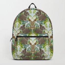 Cute Bunny Damask Backpack