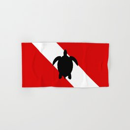 Diving Flag: Sea Turtle Hand & Bath Towel