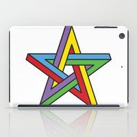 pentagram iPad Cases featuring Impossible Pentagram by Stephen Kemmy Graphic Designer
