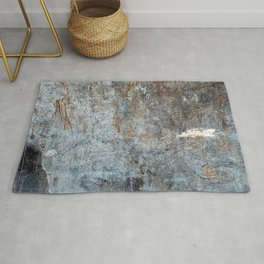 Abstract Grey with White Cloud Rug