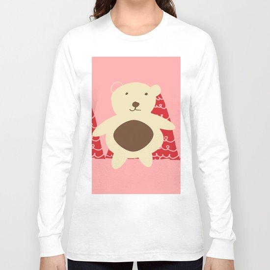 Christmas polar bear pink Long Sleeve T-shirt
