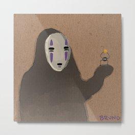 No-Face and Sootball Metal Print
