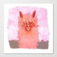alpaca Canvas Prints featuring Alpaca!!! by J Han
