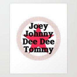 Original Ramones Lineup Homage Art Print