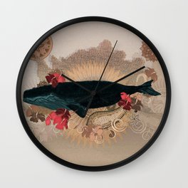 The Flying Whale Wall Clock