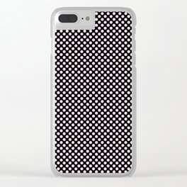 Black and Ballet Slipper Polka Dots Clear iPhone Case