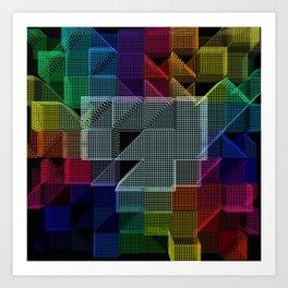Abstract digital background Art Print