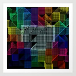 Abstract digital background Art Print