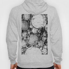 Glitch Black & White Circle abstract Hoody