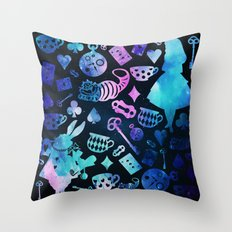 Alice in Wonderland - Galaxy Throw Pillow