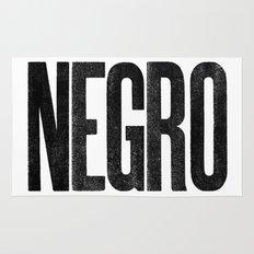 Voy de negro — Letterpress (White) Rug