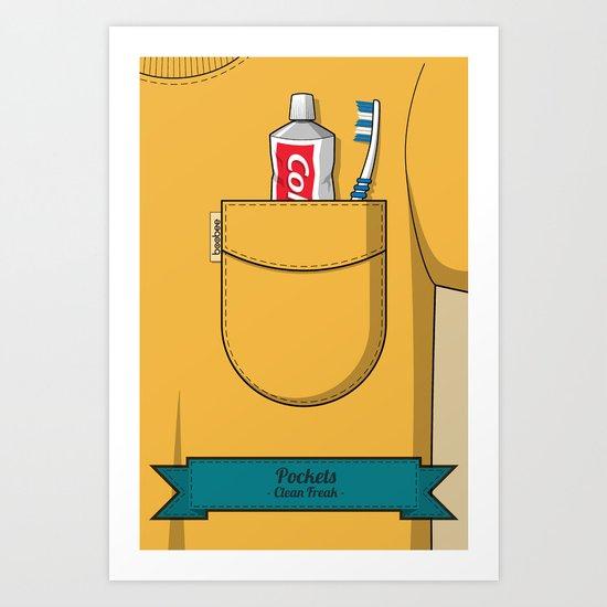 Pockets - Clean Freak - Art Print