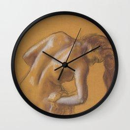 Bather Drying Herself Wall Clock