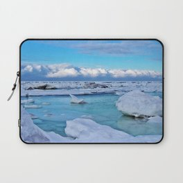 Frozen, and clouds on the Horizon Laptop Sleeve