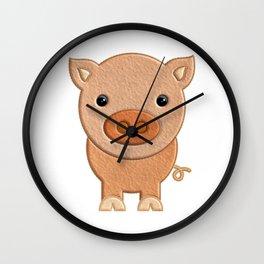 Cerdito de peluche - Pig of teddy Wall Clock