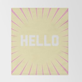 Hello Summer Throw Blanket