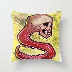 Tentacle Skull Throw Pillow