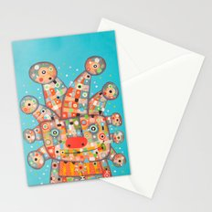 Clown with Flower Stationery Cards