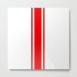 Abarth Red Stripe Metal Print