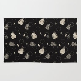 Silver Tropical Summer NEVER LOOK BACK typography Rug
