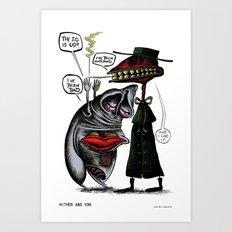 Hither and Yon #2 Art Print