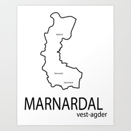 map of marnardal Art Print