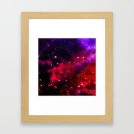 Pink Black Blue Framed Art Print