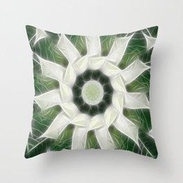 White Poinsettias Kaleidoscope 3 Throw Pillow