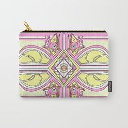 symmetry Yellow/Pink Carry-All Pouch