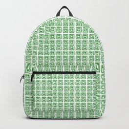 Greek pattern, green  Backpack