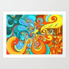 Swerve Art Print