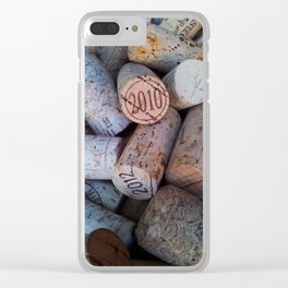 Wine Corks Clear iPhone Case