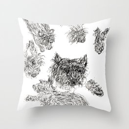 Scottish Terrier - Line Drawing Throw Pillow