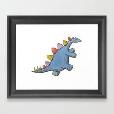 Stomp-a-saurus! Framed Art Print