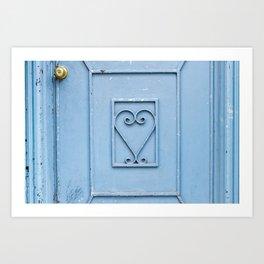 The Blue Heart Art Print