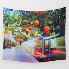 Citrus Express Wall Tapestry