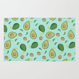 Avocado gen z fashion apparel food fight gifts Rug