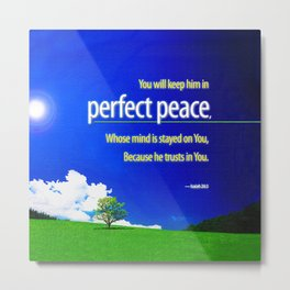 Perfect Peace Metal Print