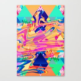 Colorful Pattern Waves Canvas Print