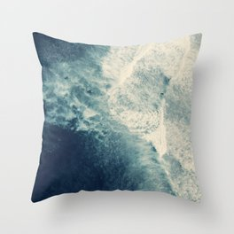 Ice Blue Surf Throw Pillow