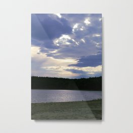 Walden Pond at Dusk Metal Print