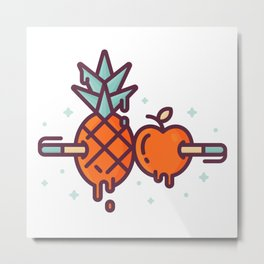 Pen-Pineapple-Apple-Pen Metal Print