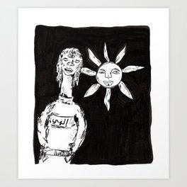 sun-child called shamsi Art Print