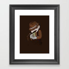 8-bit Blues Framed Art Print