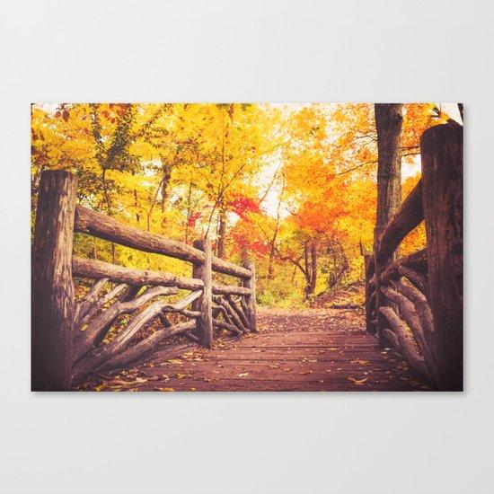 New York City Autumn in Central Park Canvas Print
