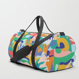 Amalfi Abstraction Pattern / Colourful Modern Shapes Duffle Bag