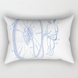 Education Apparatus for Teaching Obstetrics Vintage Patent Hand Drawing Rectangular Pillow