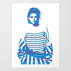 Fashion: Stripes Art Print